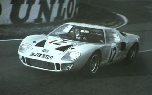Ford GT40 1017 No12 LeMans 66  light blue